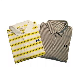 2 Under Armour Loose Heat Gear Polo shirts XXL